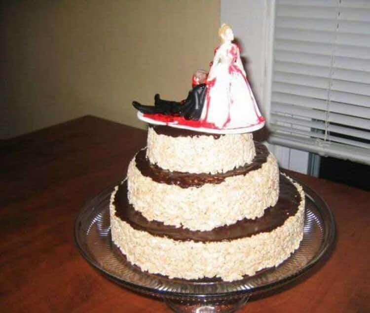20 очень необычных свадебных тортов, посмотрев на которые, я смеюсь уже полдня! Умора, да и только!