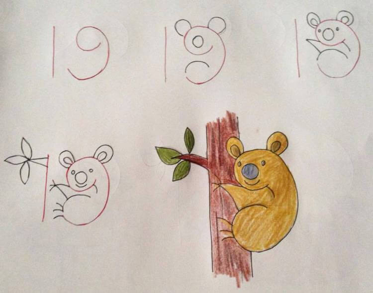 Учимся рисовать, используя цифры! Это классная идея – одновременное развитие у ребенка способностей к математике и креатива!