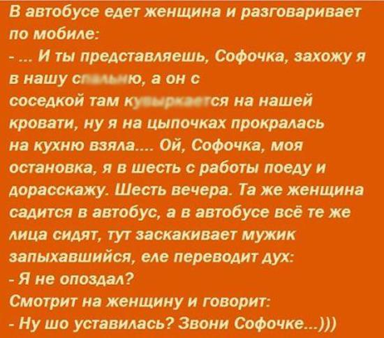 Анекдот про Софочку