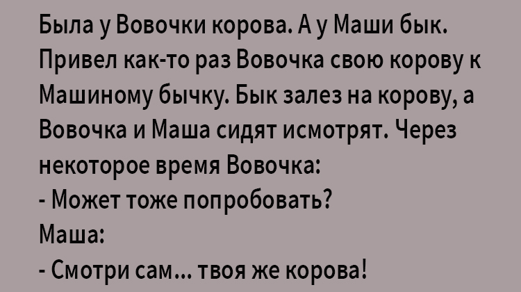 Анекдот про Вовочку и Машу