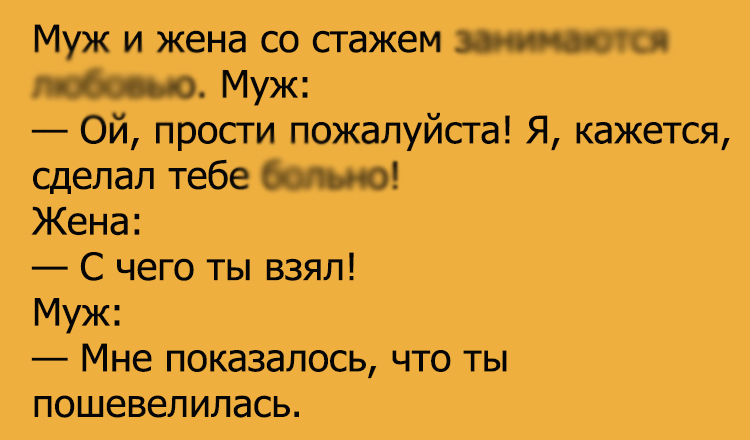 Анекдот про Пикантный диалог